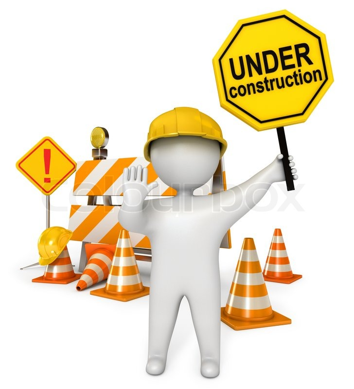 728x800 Under Construction Barrier Traffic Cones Road Sign Construction