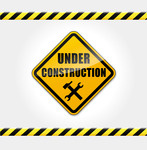 147x150 Under Construction Sign Royalty Free Vector Clip Art Image