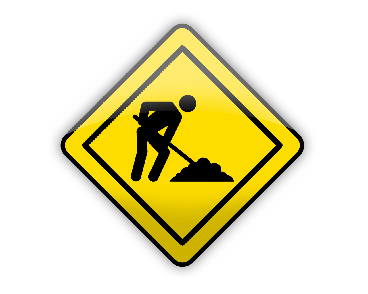 1280x1024 Construction Signs Clipart