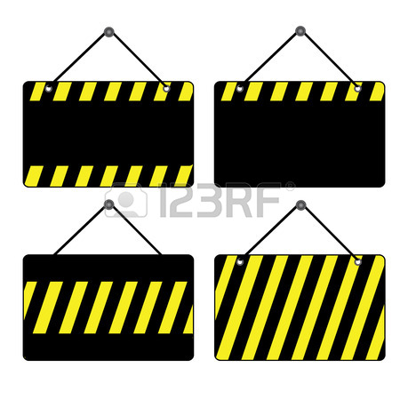 450x450 Illustration Of Hanging Under Construction Notice Board Isolated