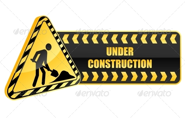 590x378 Under Construction Icon And Warning Sign By Seamartini Graphicriver