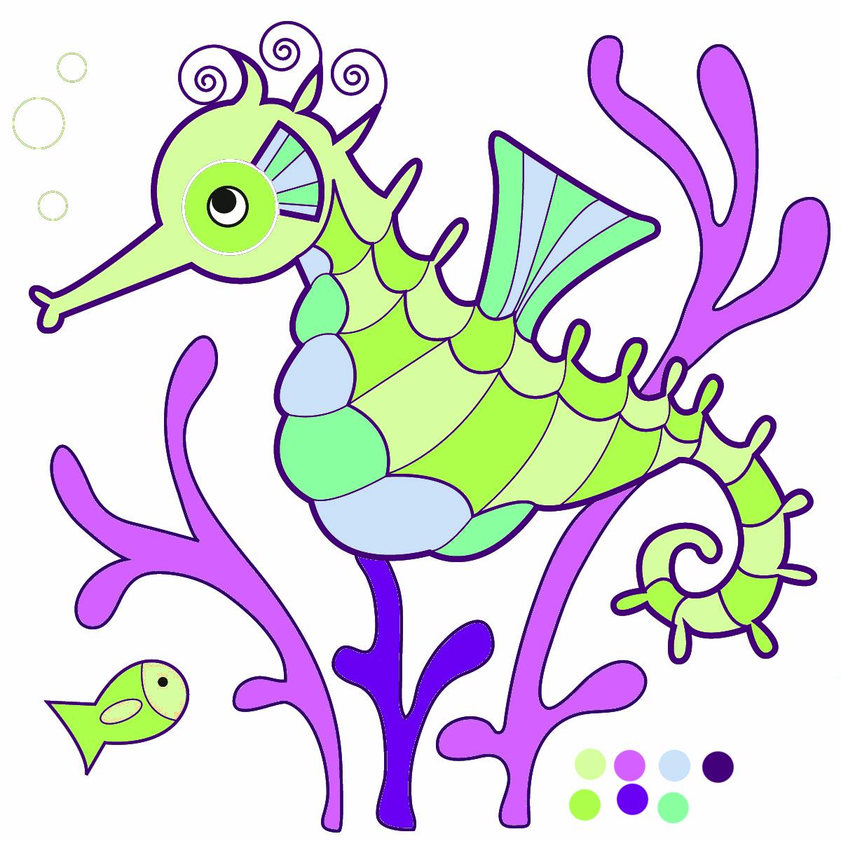 1200x1200 Sea Life Clipart Seahorse Seahorse Clipart Image Cartoon