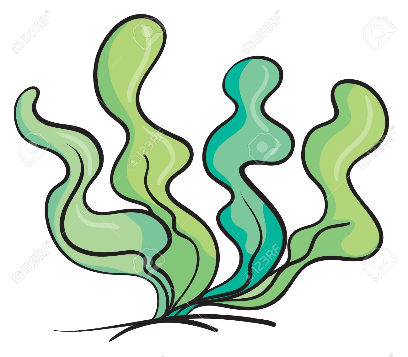 1300x1138 Under The Sea Plants Clipart
