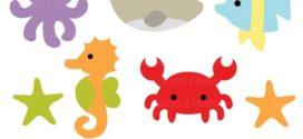 272x125 Sea Creatures Clip Art Under The Sea Clipart Ocean Animals