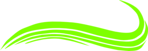 294x102 Swoosh Lime Green Clip Art