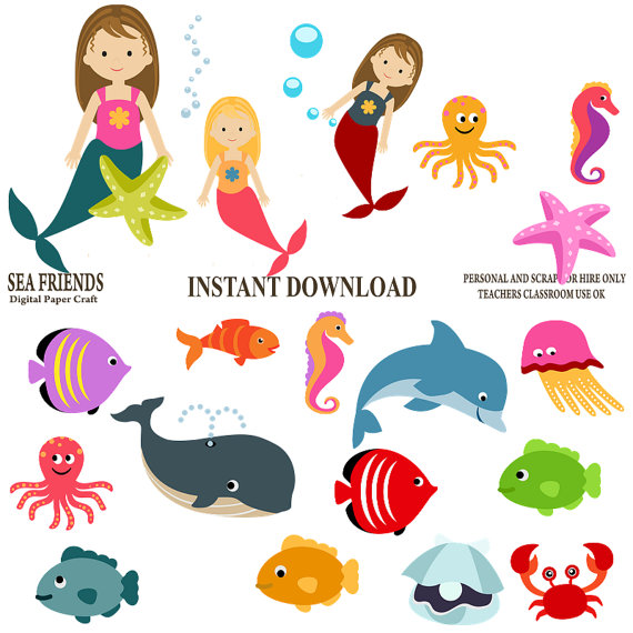 Underwater cliparts free download best underwater - Clip art animali marini ...