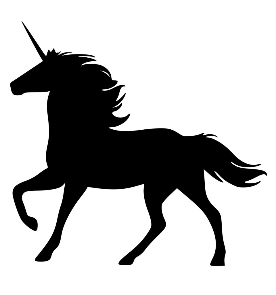 Unicorn Black And White Clipart