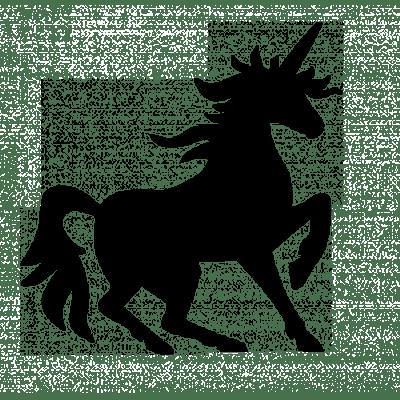 400x400 Unicorn Silhouette Cartoon Unicorn Transparent Stick Clipart
