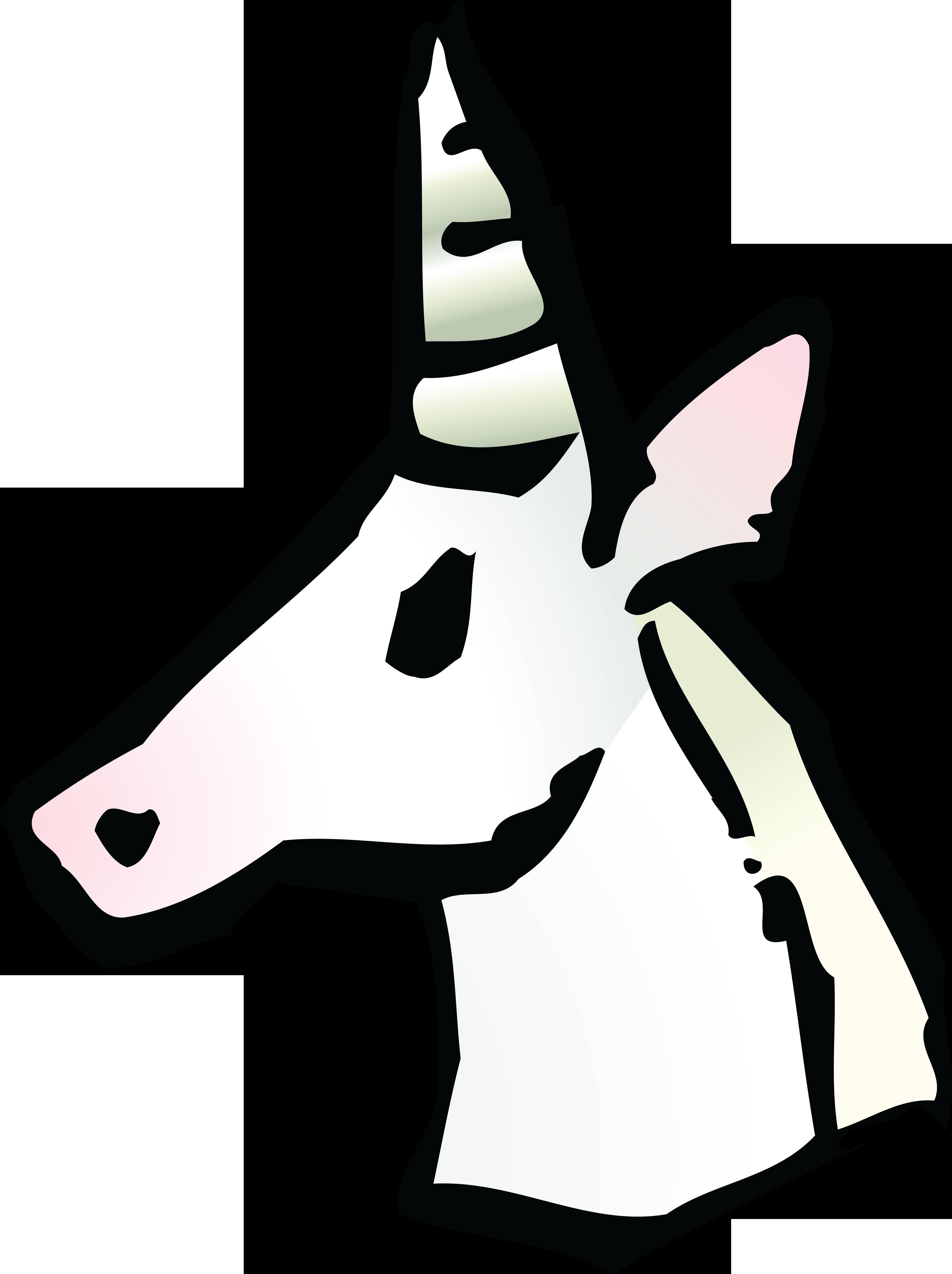 4000x5351 Free Clipart Of A Unicorn Avatar