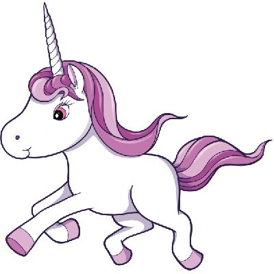 Unicorn Clipart Black And White