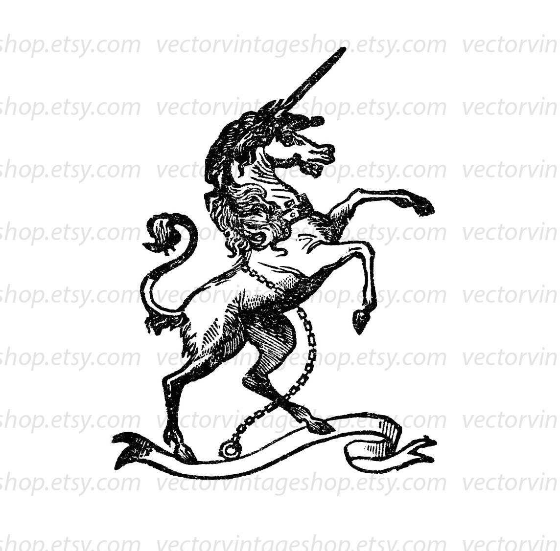 1144x1127 Unicorn Vector Graphic Instant Download, Medieval Myth Clip Art