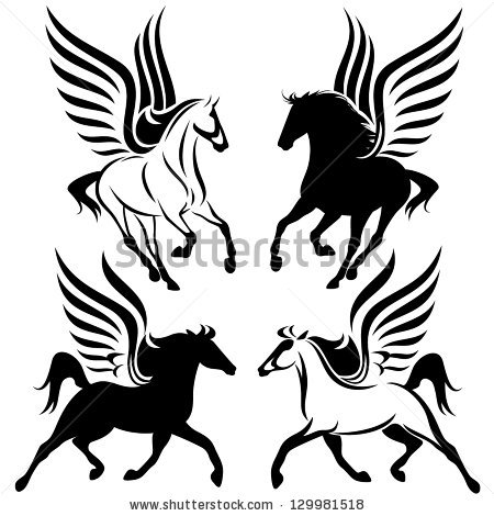 450x470 Unicorn Clipart Pegasus