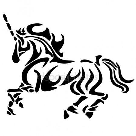 450x450 Unicorn Tattoo Stock Vectors, Royalty Free Unicorn Tattoo