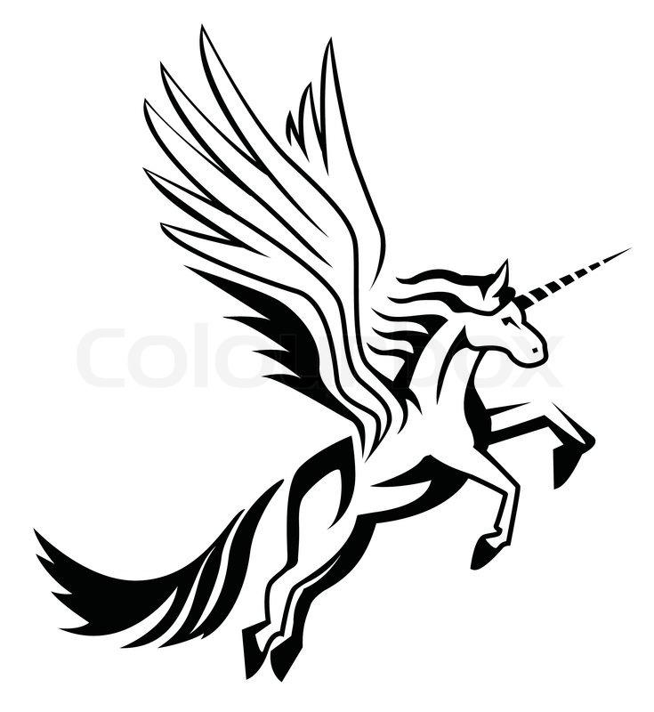 735x800 White Unicorn Cartoon Stock Vector Colourbox