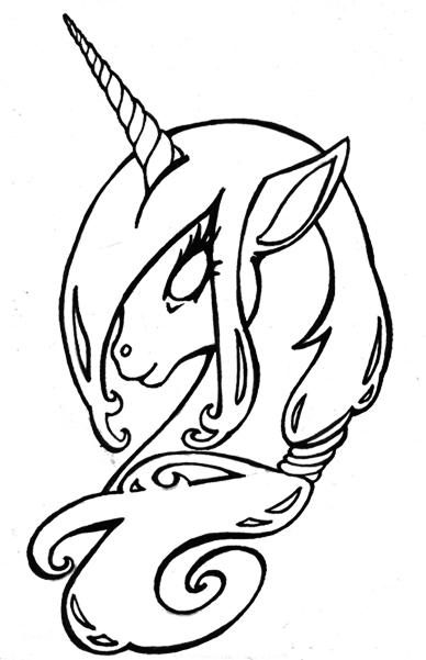 388x601 Best Unicorn Outline