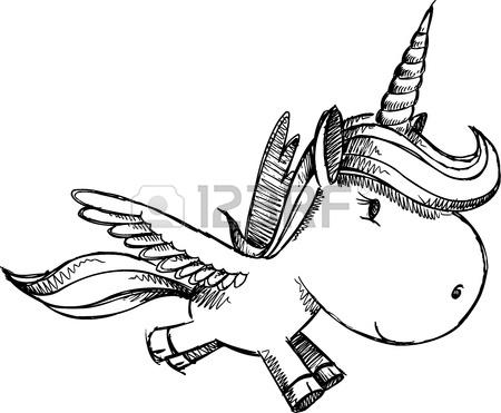 450x371 Cute Unicorn Pegasus Vector Illustration Art Royalty Free Cliparts