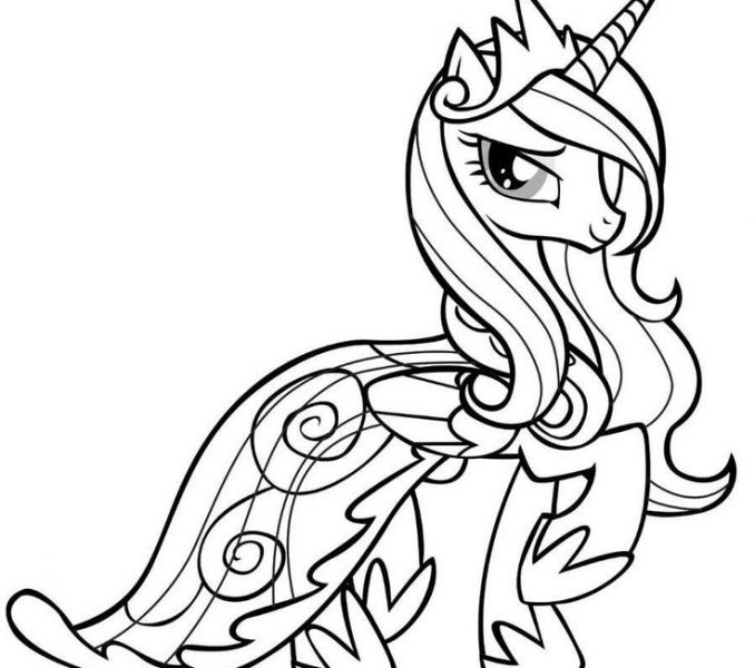 678x600 Unicorn Printable Coloring Pages For Girls