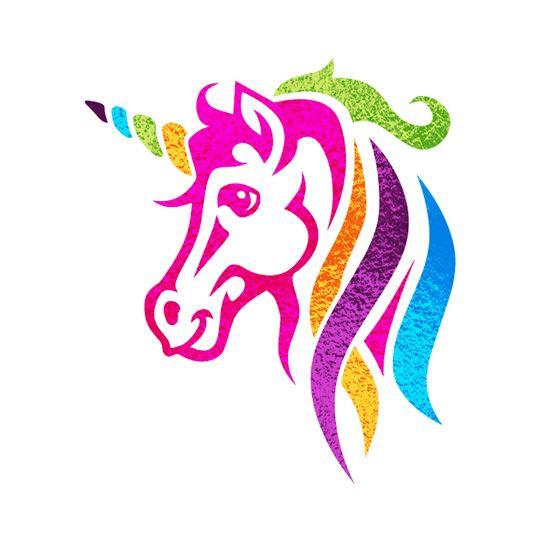 544x544 Knit Colorful Unicorn Head Chart, Intarsia Knitting Graph Pdf