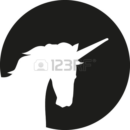 450x450 Unicorn Head Caligraphy Royalty Free Cliparts, Vectors, And Stock