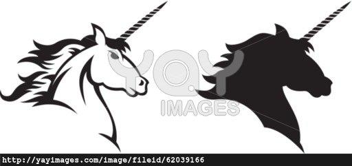 512x241 Unicorn Head Silhouette Clipart Panda