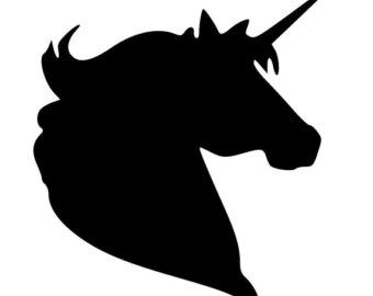 340x270 Unicorn Head Decal Etsy