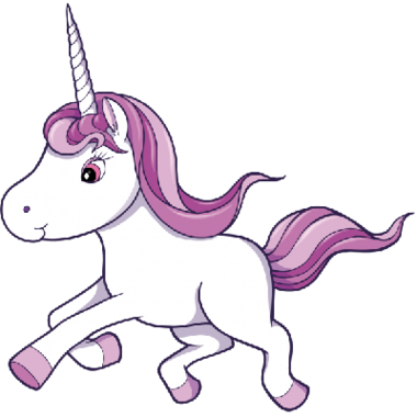 380x380 Unicorn With Wings Clipart Black And White Free