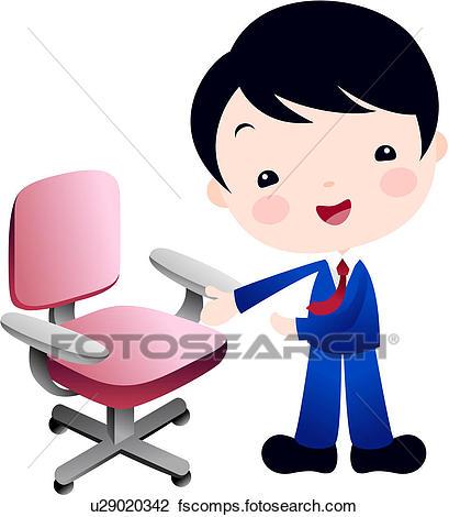 409x470 Clipart Of Formalwear, Furniture, Uniform, Boy, Businessman, Chair