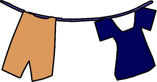 600x316 School Uniform On Clothesline Clip Art