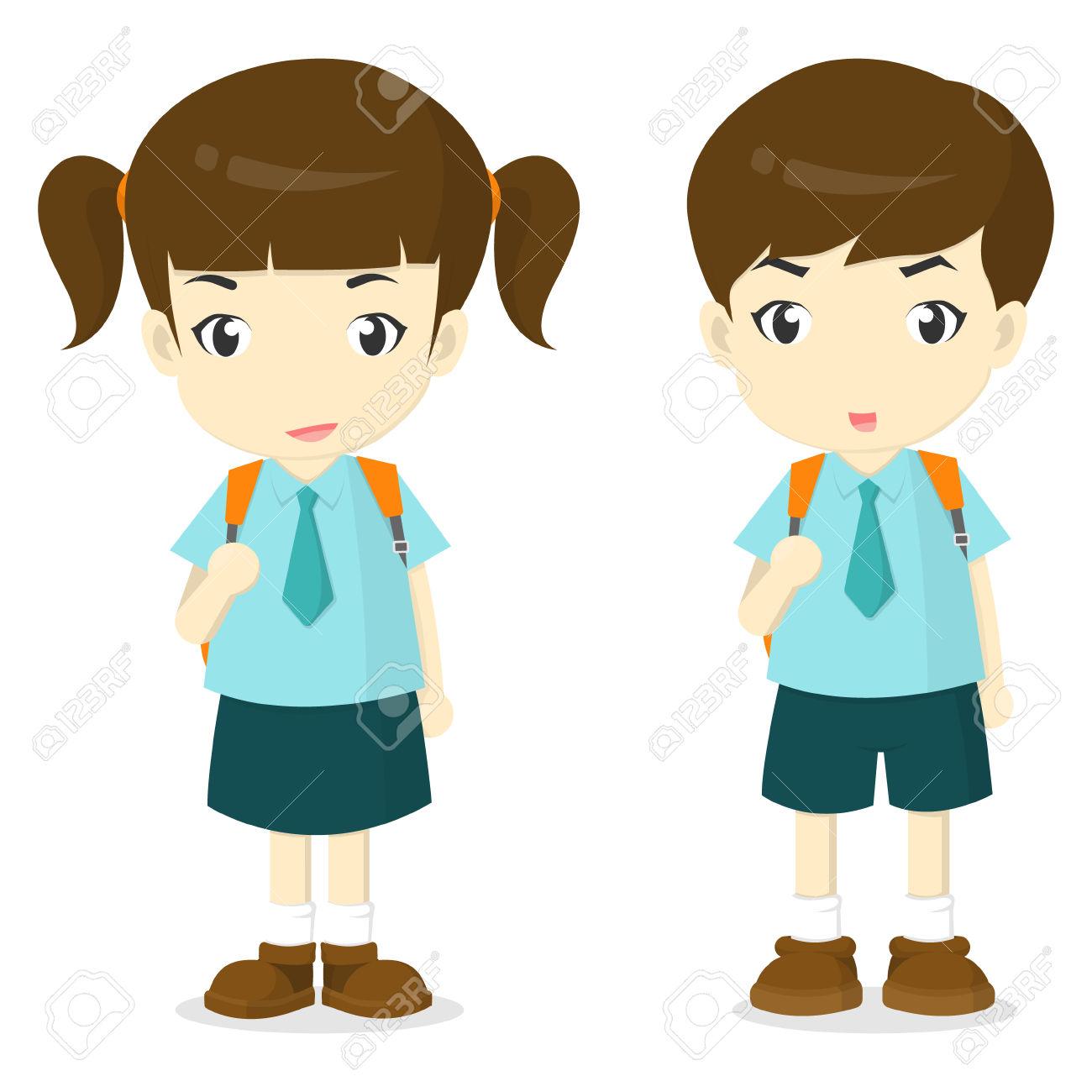 1300x1300 Uniform Clipart School Boy