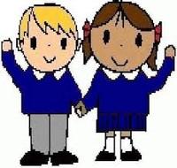 200x190 Cartoon School Kids In Uniform Vector Clip Art With Simple Gradi