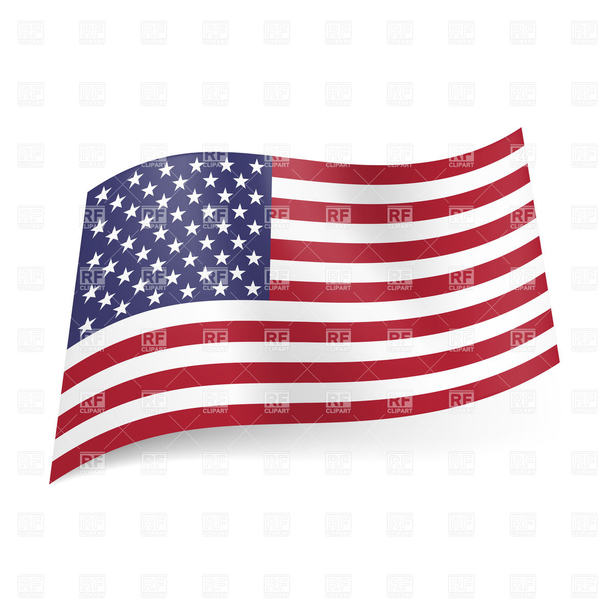 1200x1200 National Flag Of United States Of America Royalty Free Vector Clip