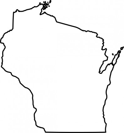 396x425 Outline Of United States Clipart