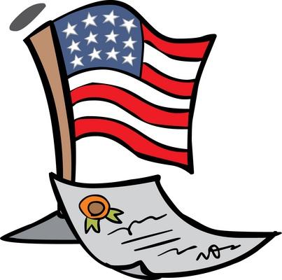 403x400 Clipart Constitution United States