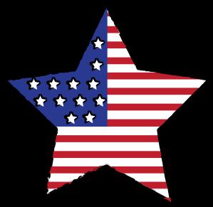299x291 Clipart Flag Star