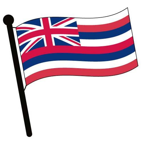 500x500 Hawaii Waving Flag Clip Art
