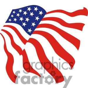 300x300 United States American Flag Clipart