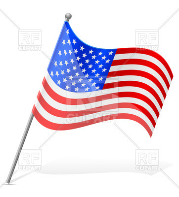 362x400 Wavy Flag United States Of America (Usa) Royalty Free Vector Clip
