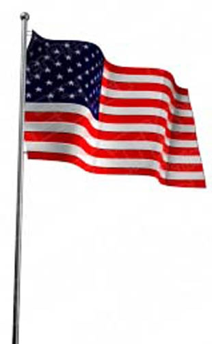 310x501 Transparent American Flag Clipart