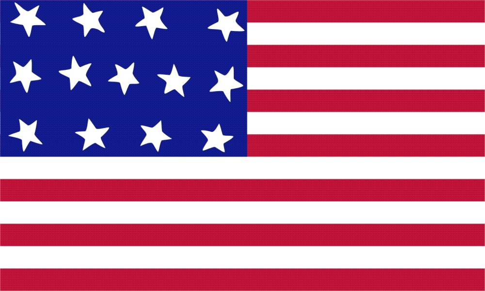 1000x600 American Flag Clipart Us History