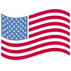 300x300 American Flag Clipart Cute