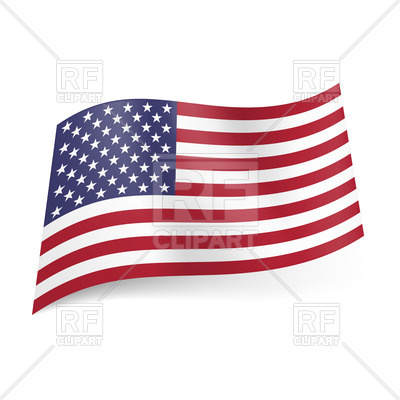 400x400 National Flag Of United States Of America Royalty Free Vector Clip