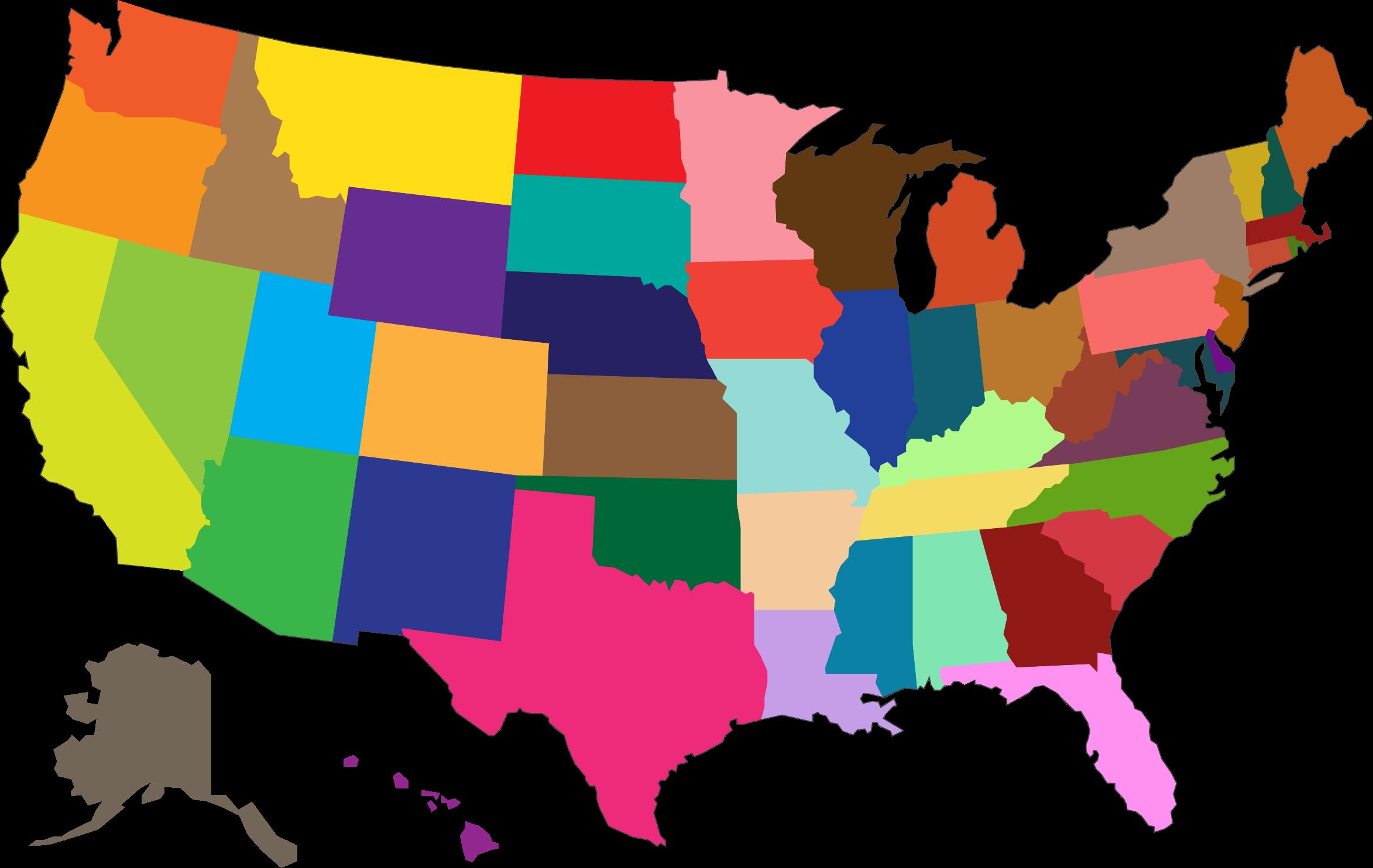 2346x1484 Top 65 United States Clip Art