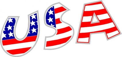 425x198 United States Of America Clipart