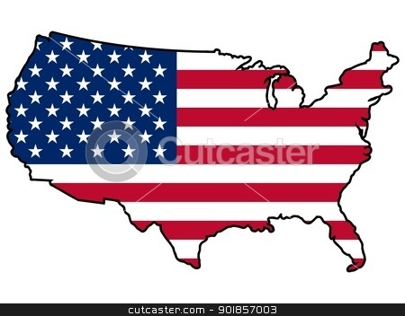 450x352 Clipart Map Of The United States