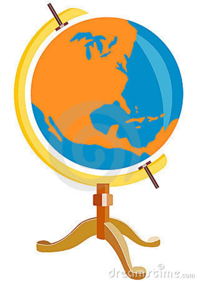 632x900 Globe United States Clipart
