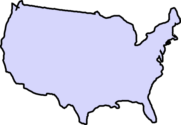 600x414 Map Clipart United States