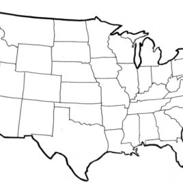 268x268 Us Map Coloring Page United States Map Free Coloring Pages On Free