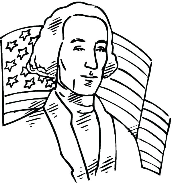 600x638 American Revolution Coloring Pages Revolution Flag Behind United