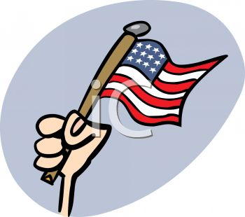 350x310 Royalty Free Clip Art Image 4th Of July Cartoon Of A Hand Holding