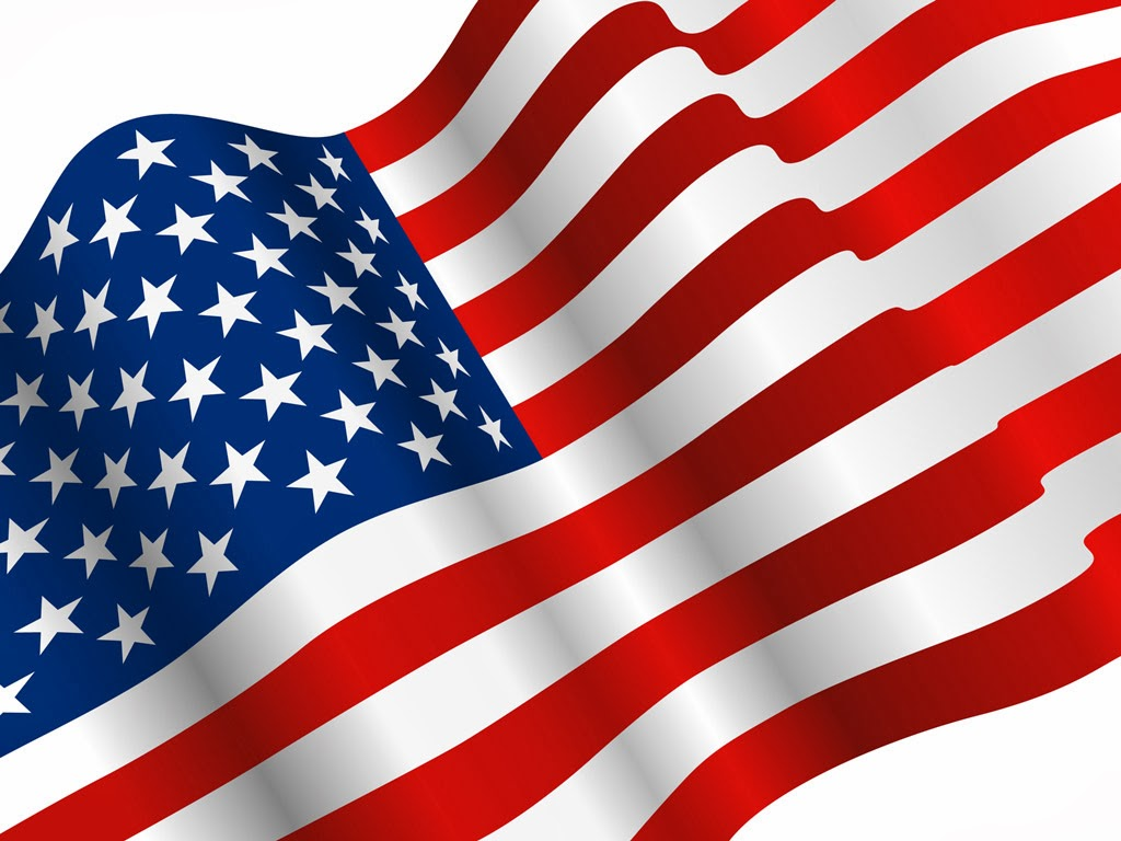 1024x768 American Flag Clipart Wallpaper